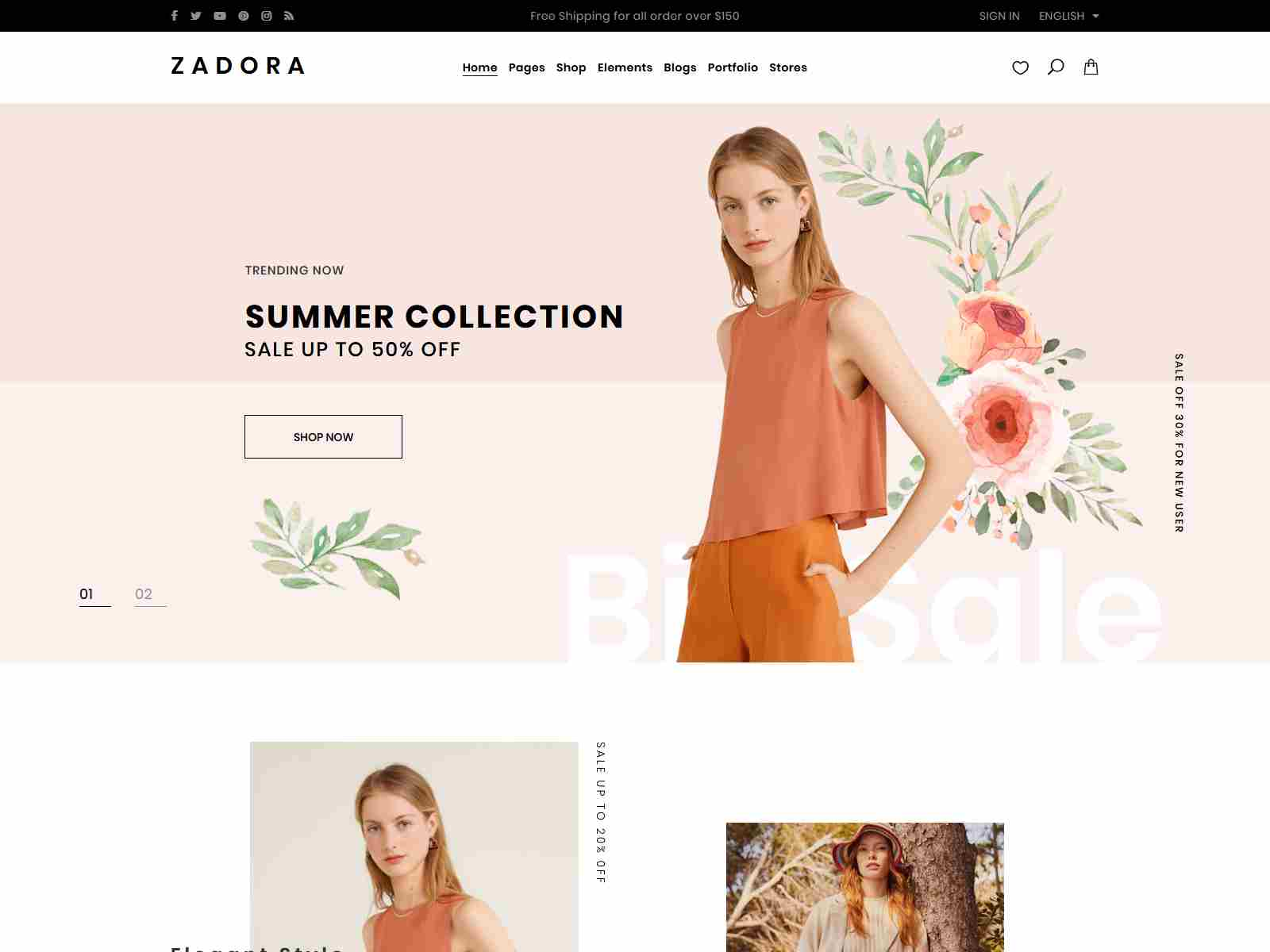 Zadora - Clean, Minimal WooCommerce WordPress Theme fashion wordpress themes