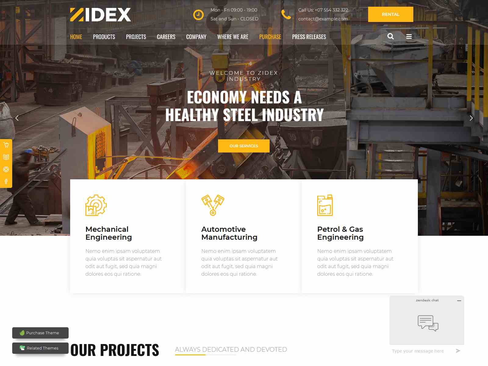 Zidex - Industrial & Factory WordPress Theme