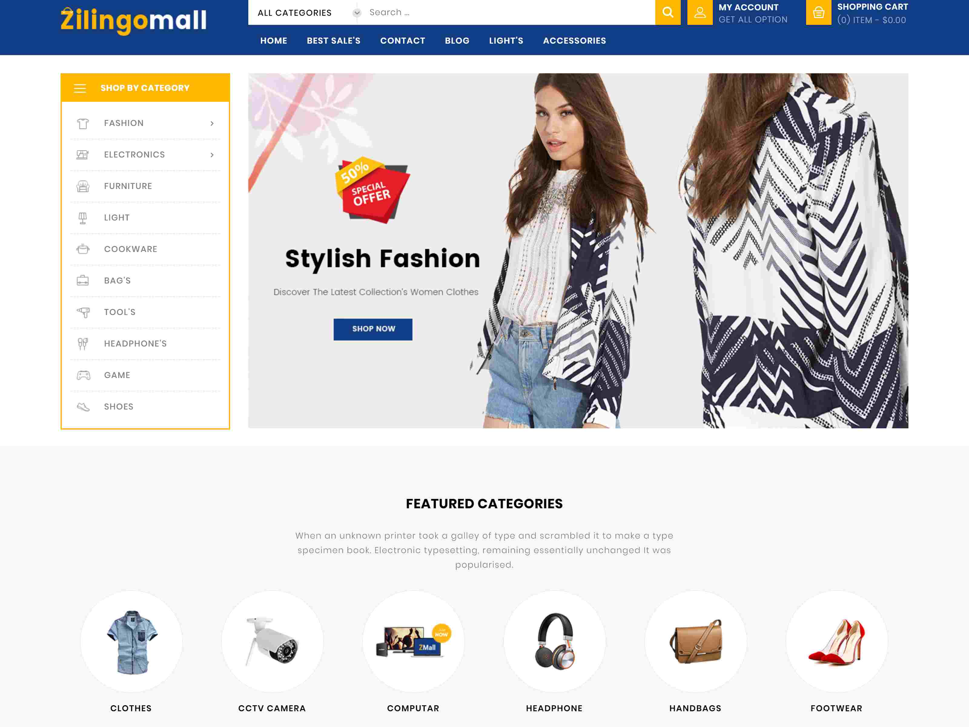 Zilingomall Mega Shop - Prestashop 1.7 Theme