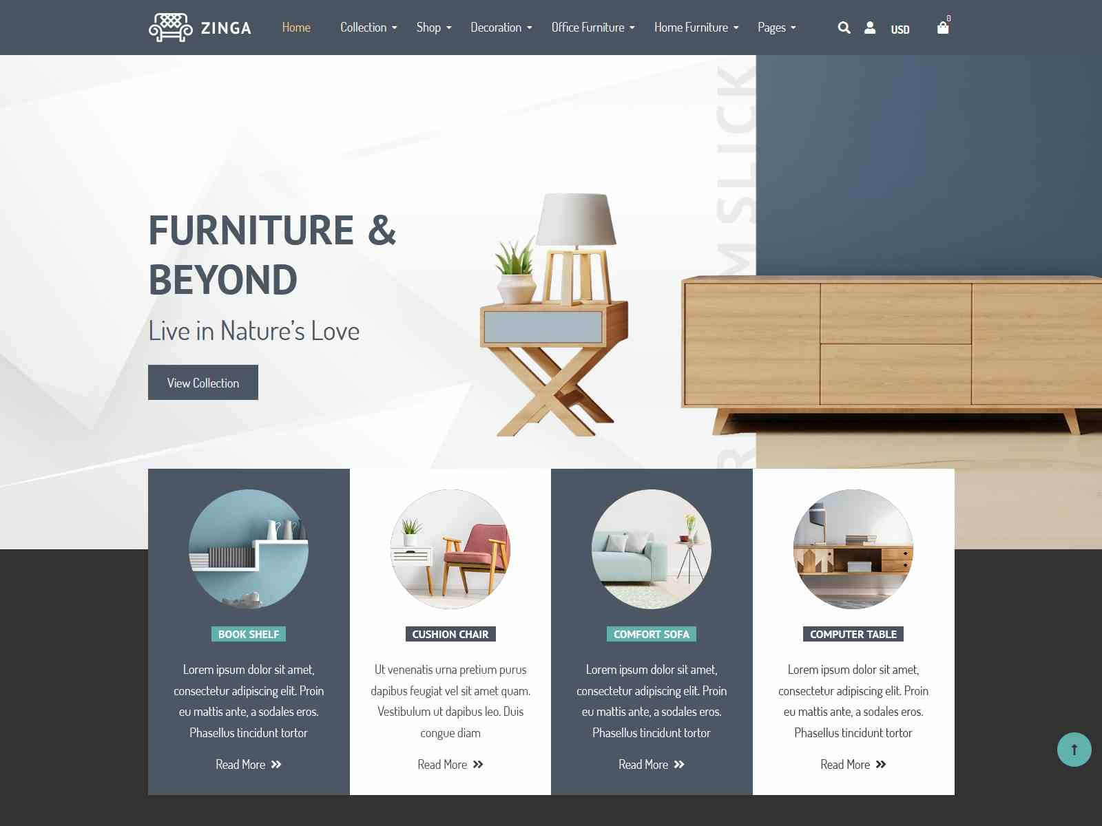 Zinga | Interior Store, Furniture Shopify Theme