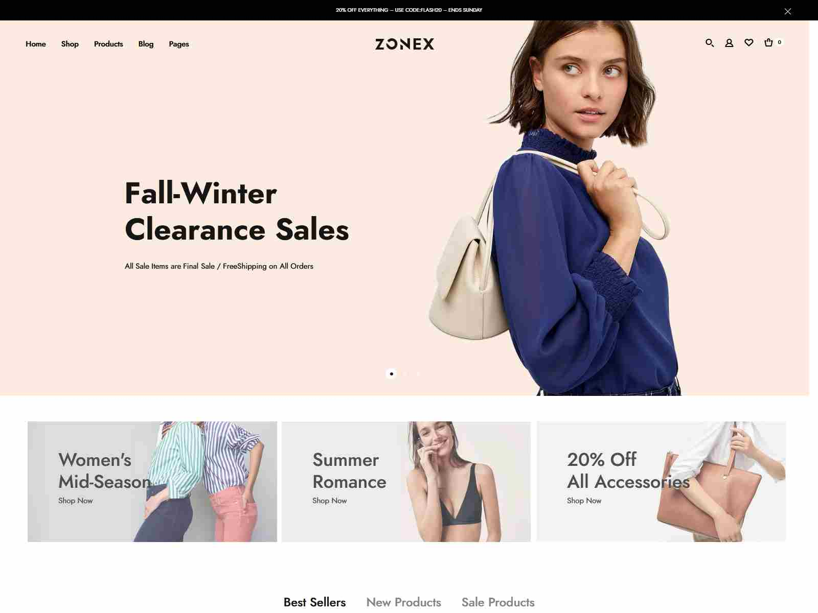 Zonex - Fashion WooCommerce WordPress Theme