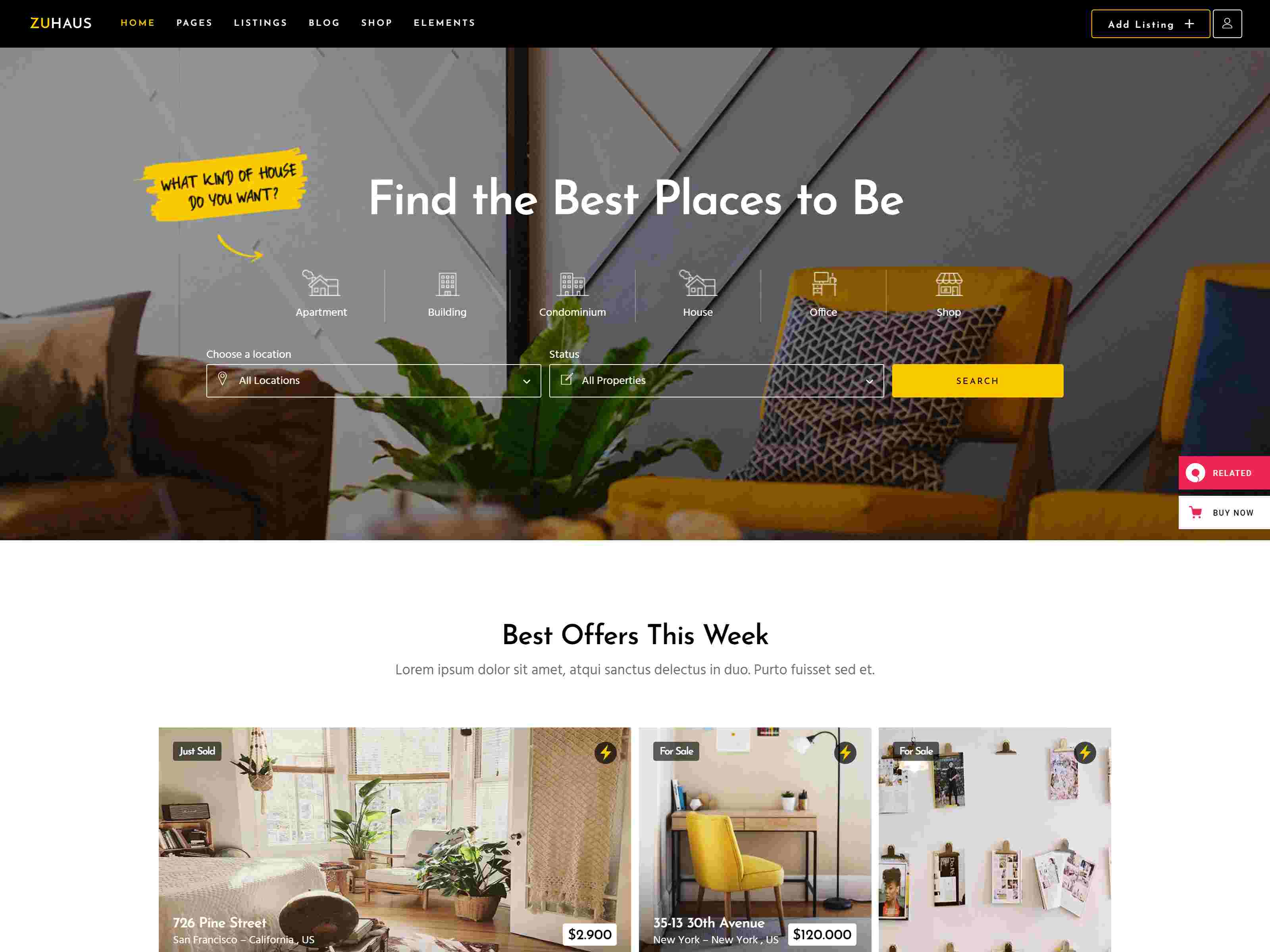 Zuhaus - Real Estate Theme real estate wordpress themes