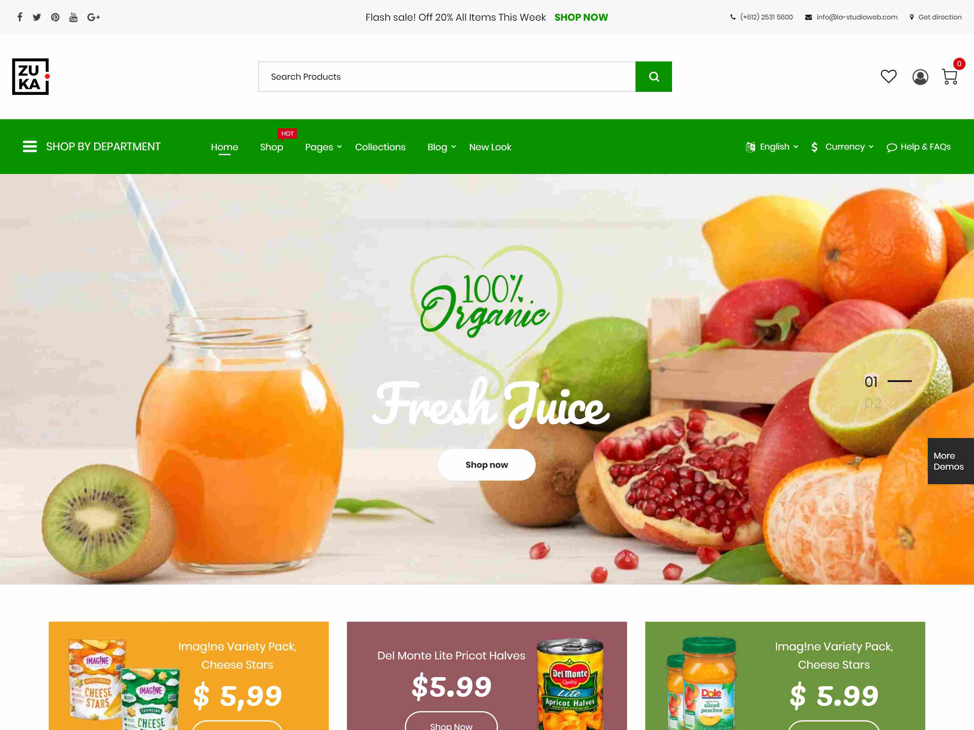 Zuka - Clean, Minimal WooCommerce Theme Organic WordPress Themes