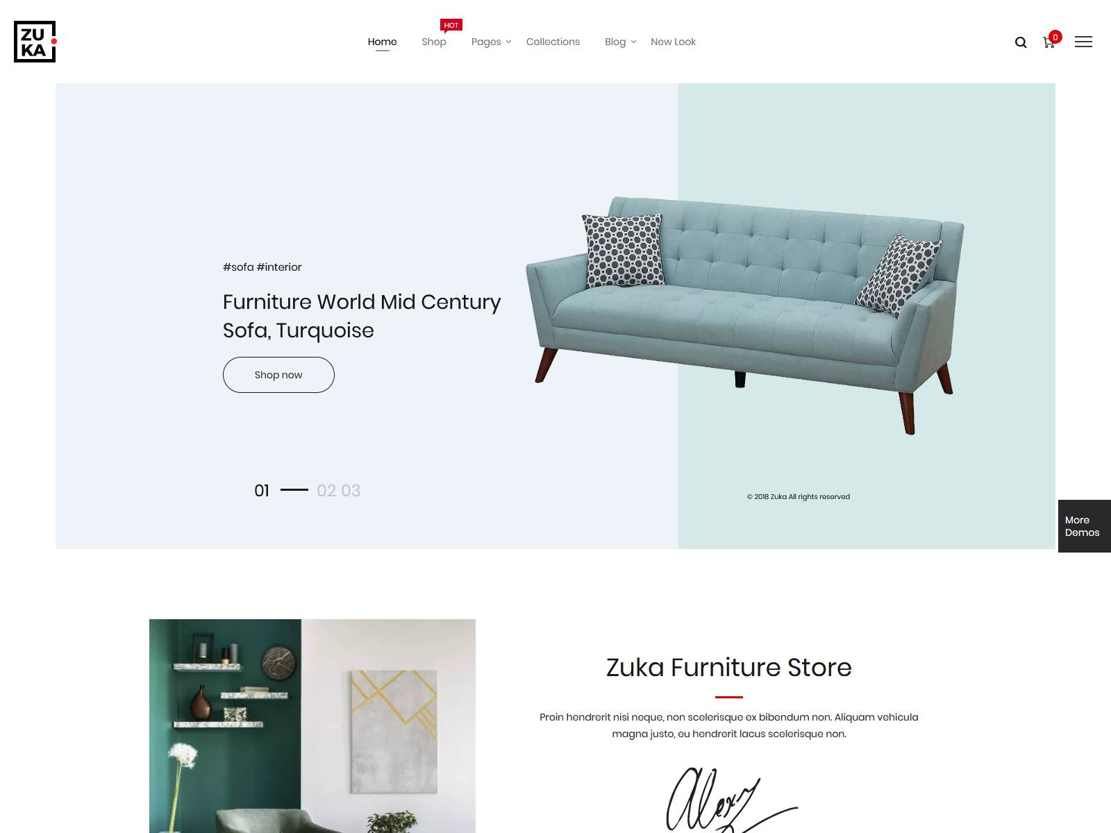 Zuka - Clean, Minimal WooCommerce Theme